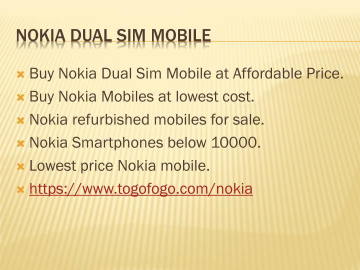 Buy Nokia Dual