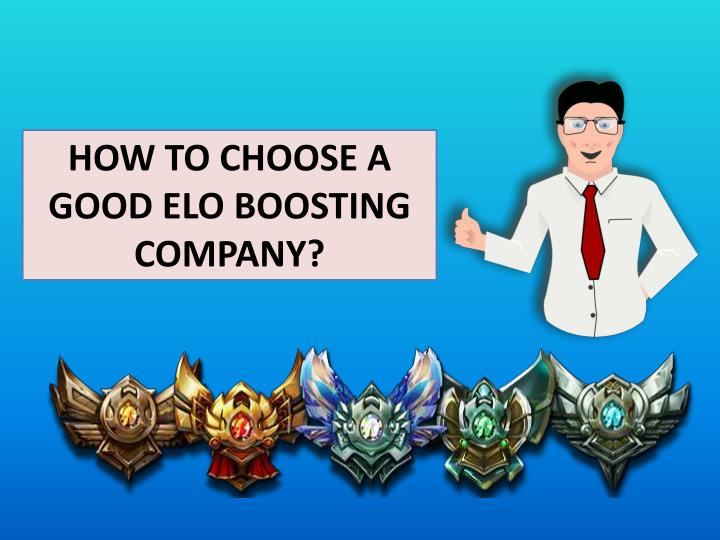 How to choose a good elo boosting company