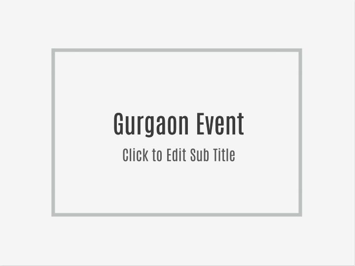 Gurgaon Event