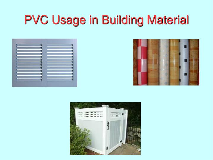PVC Usage in Building Material