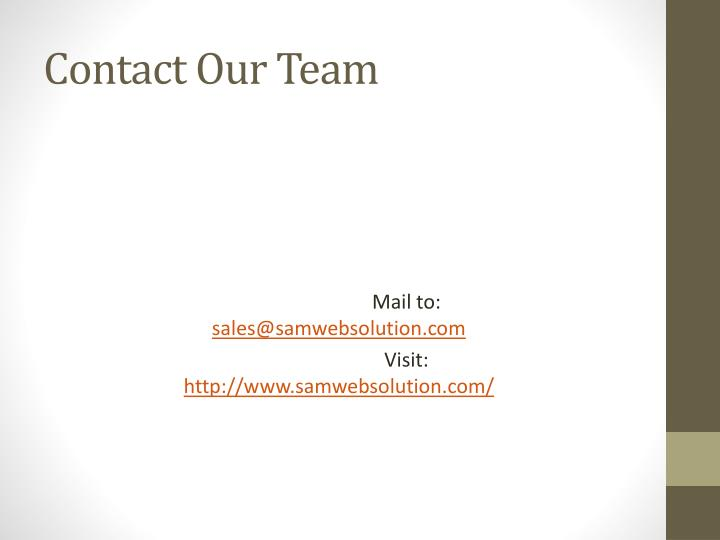 Contact Our Team