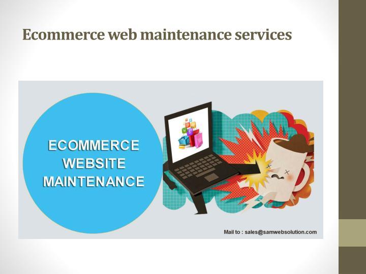 Ecommerce web maintenance services