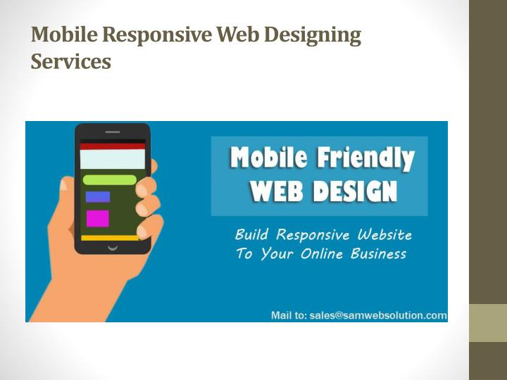 Mobile Responsive Web Designing Services