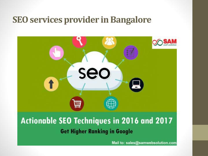SEO services provider in Bangalore