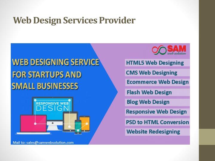 Web Design Services Provider