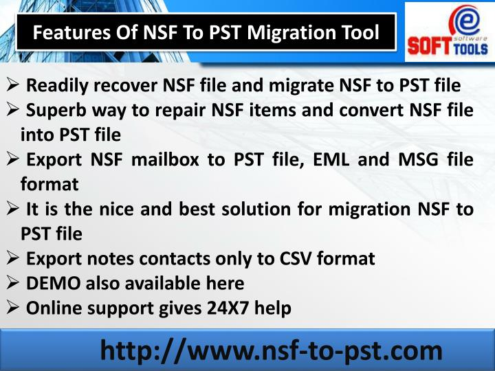 Features Of NSF To PST Migration Tool