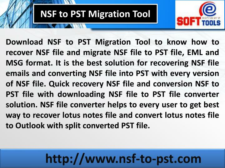 NSF to PST Migration Tool