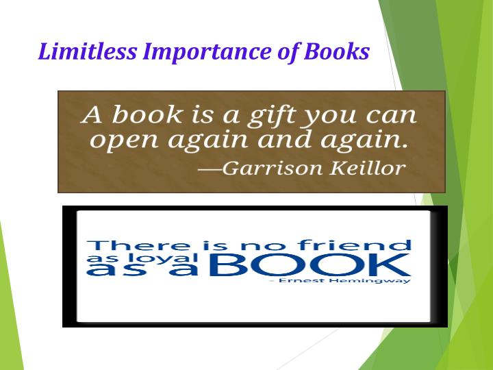 Limitless importance of books