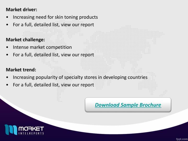 Market driver: