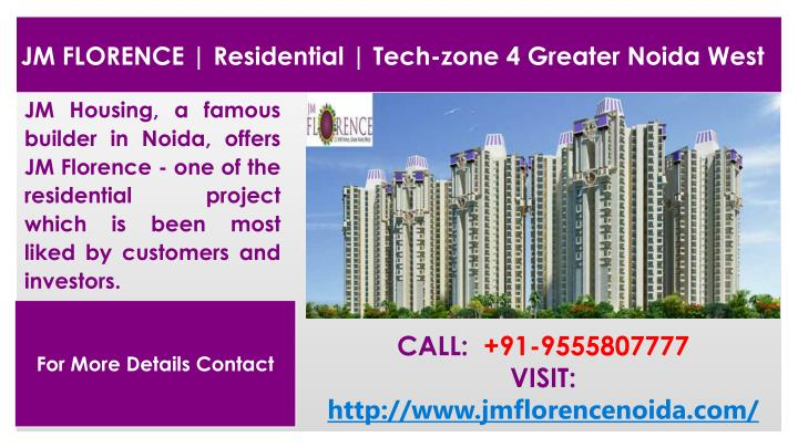 JM FLORENCE | Residential | Tech-zone 4 Greater Noida West