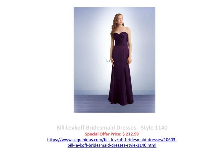 Bill Levkoff Bridesmaid Dresses - Style 1140