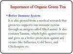 importance of organic green tea2