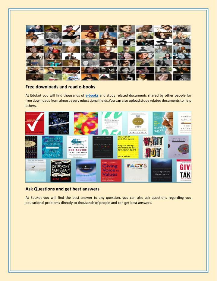 Free downloads and read e-books