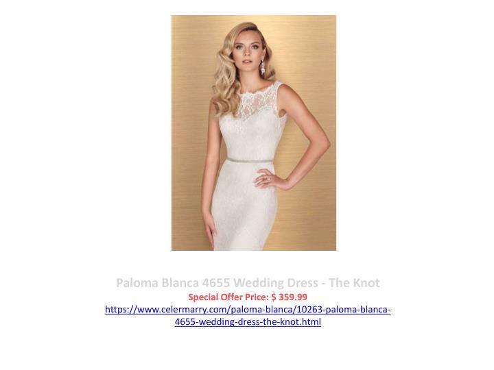 Paloma Blanca 4655 Wedding Dress - The Knot