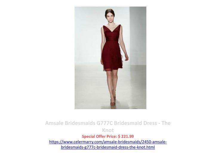 Amsale Bridesmaids G777C Bridesmaid Dress - The Knot