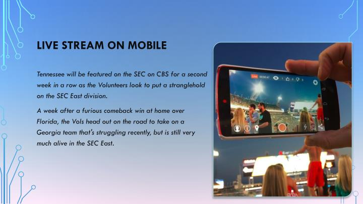 Live stream on mobile