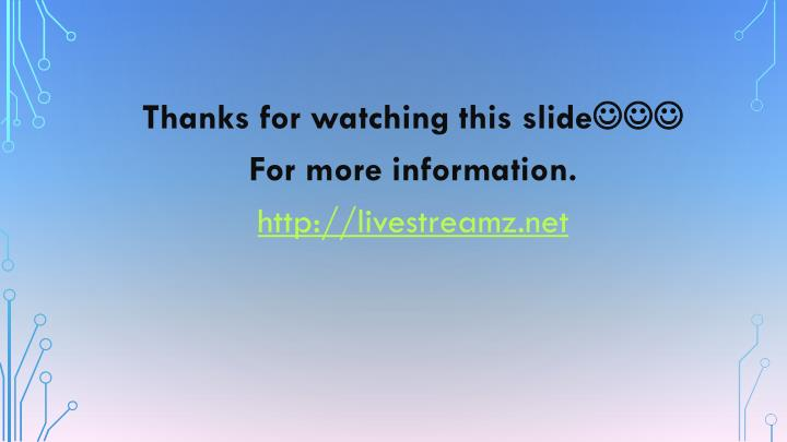 Thanks for watching this slide