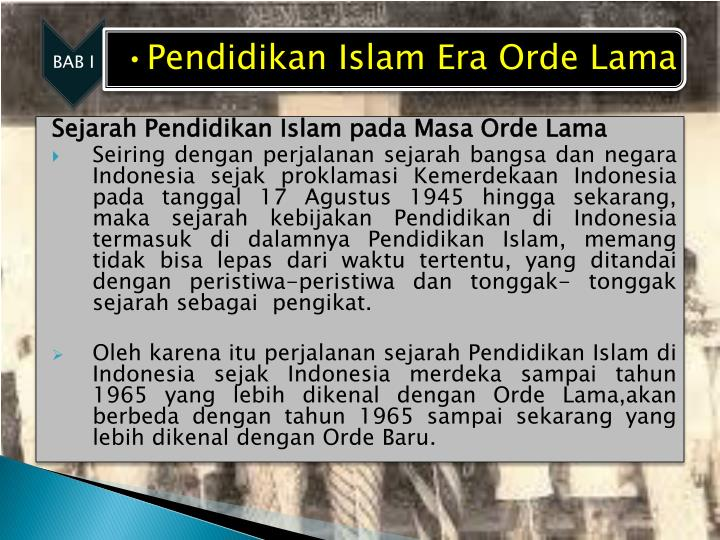 Sejarah Pendidikan Islam pada Masa Orde Lama
