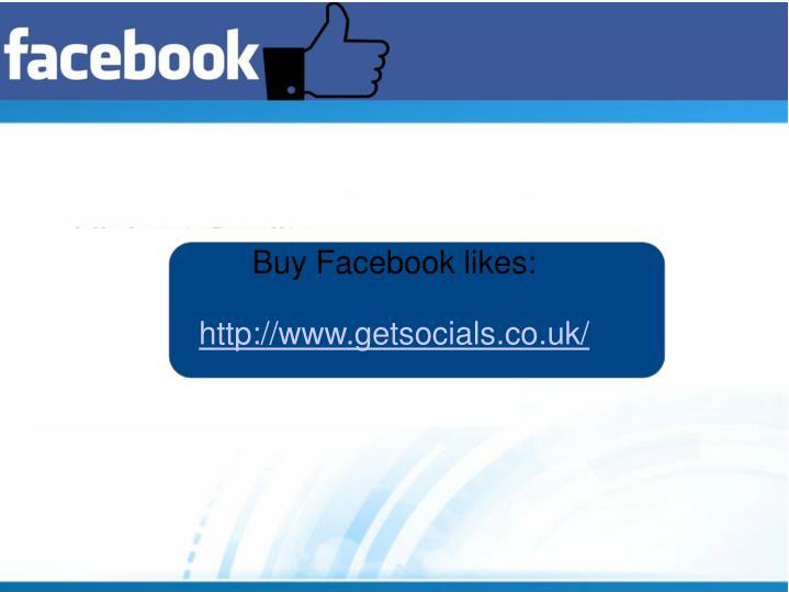 Buy Facebook likes: