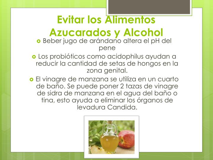 Evitar los Alimentos Azucarados y Alcohol