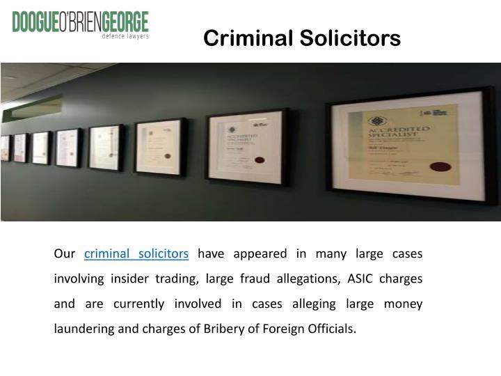 Criminal Solicitors
