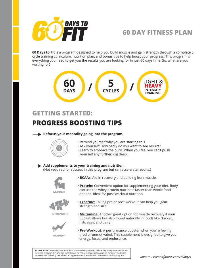 60 DAY FITNESS PLAN