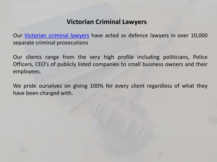 Victorian Criminal Lawyers