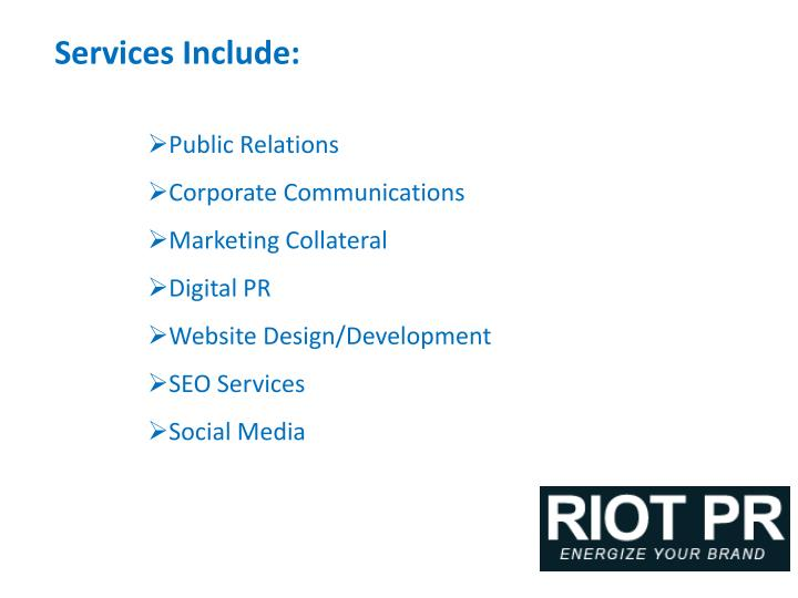 Services Include: