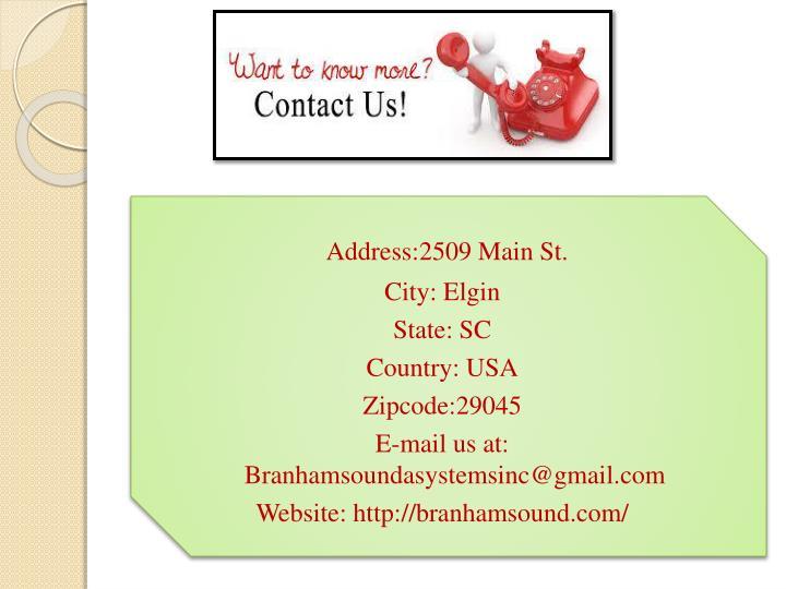 Address:2509 Main St.
