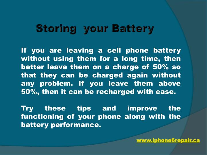 Storing  your