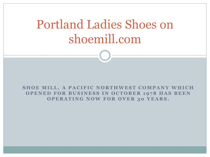 Portland ladies shoes on shoemill com
