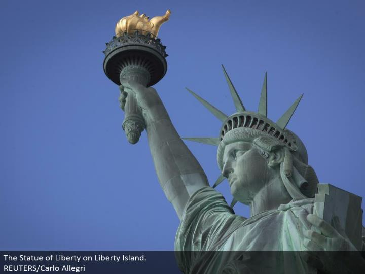 The Statue of Liberty on Liberty Island. REUTERS/Carlo Allegri