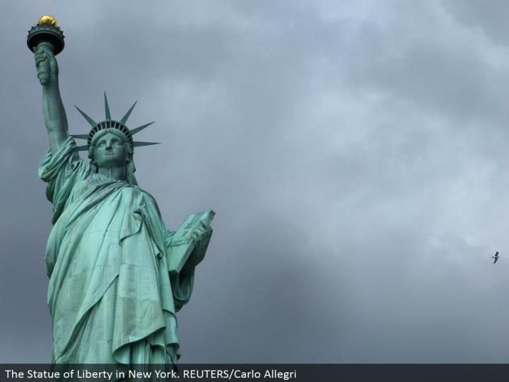 The Statue of Liberty in New York. REUTERS/Carlo Allegri