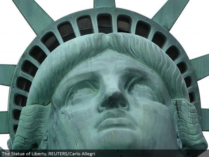 The Statue of Liberty. REUTERS/Carlo Allegri