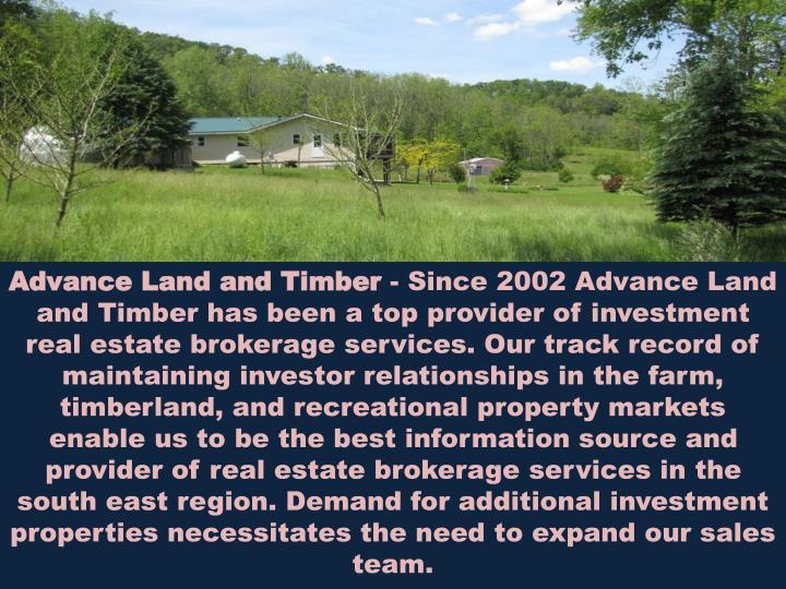 Advance Land and Timber