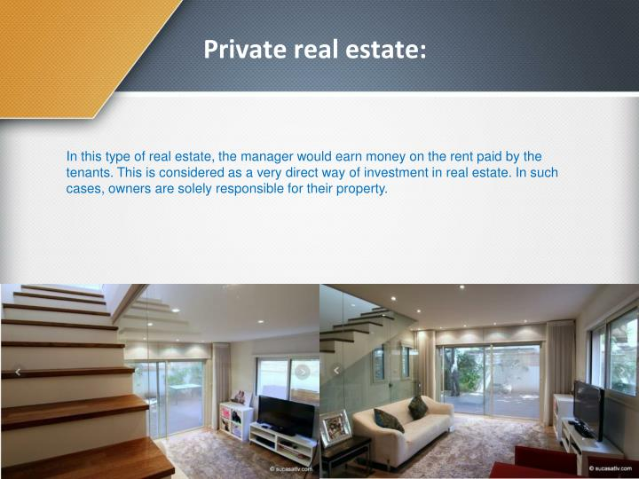 Private real estate: