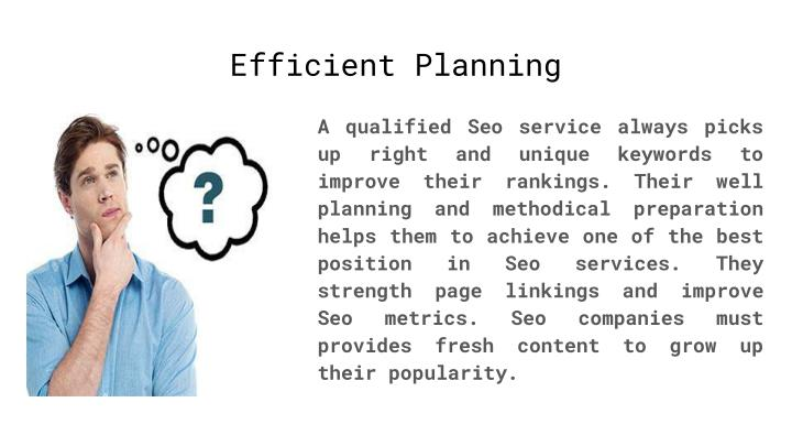 Efficient Planning