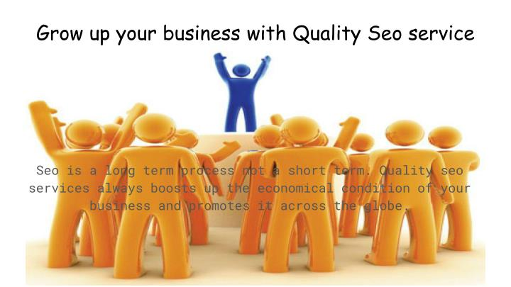 Grow up your business with Quality Seo service