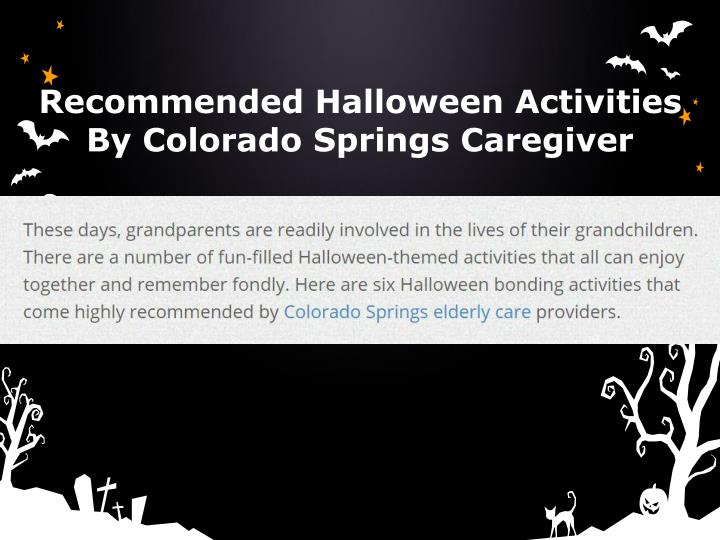Recommended Halloween Activities