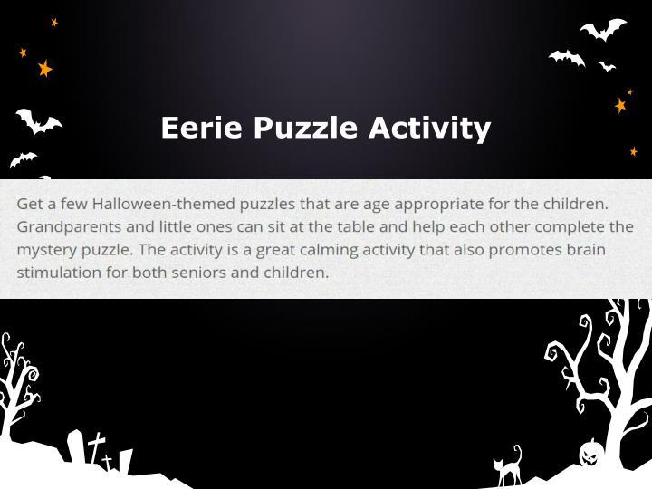 Eerie Puzzle Activity