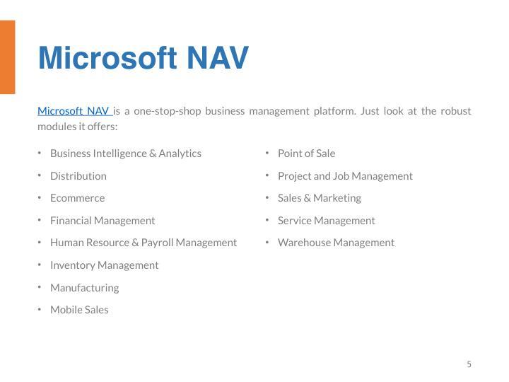 Microsoft NAV
