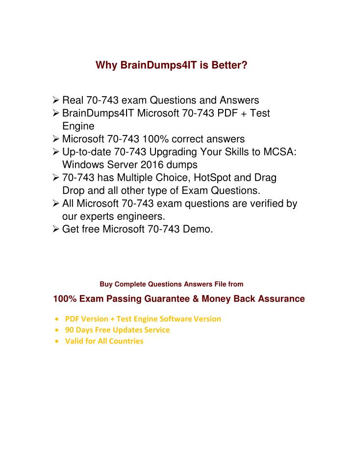 Why BrainDumps4IT is Better?