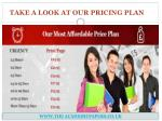 take a look at our pricing plan