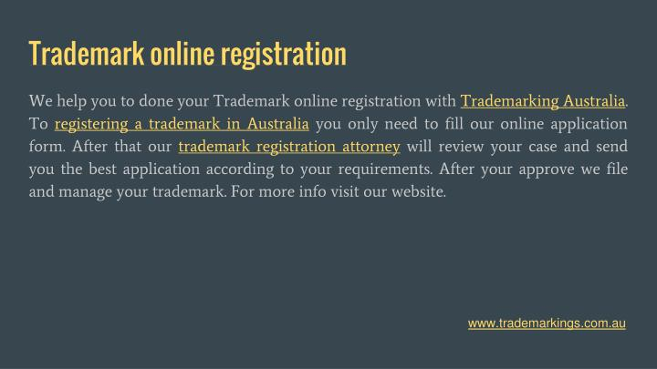 Trademark online registration