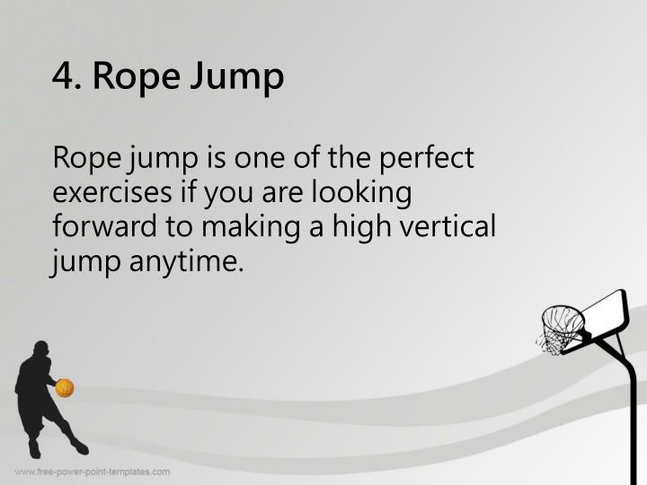 4. Rope Jump
