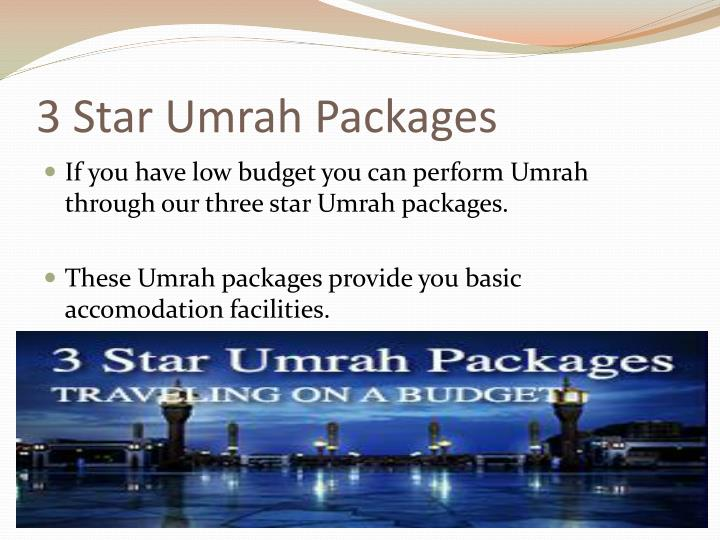 3 star umrah packages