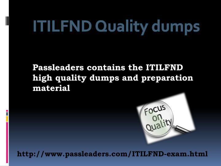 ITILFND Quality dumps