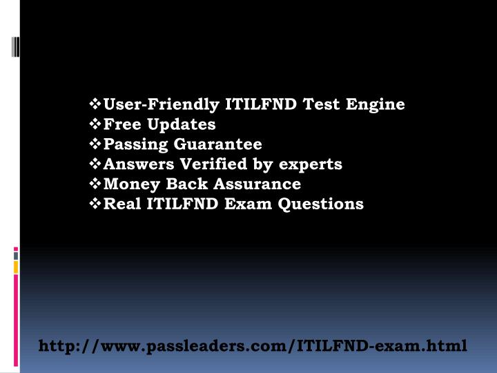 User-Friendly ITILFND Test Engine