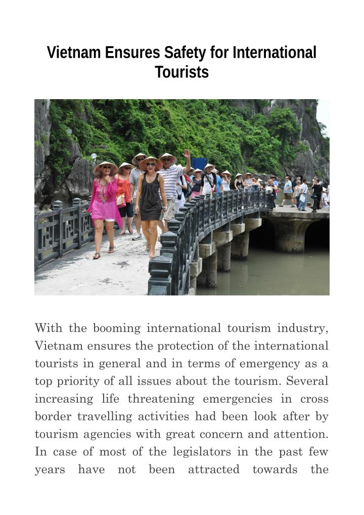 Vietnam Ensures Safety for International