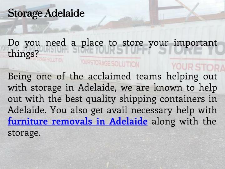 Storage Adelaide